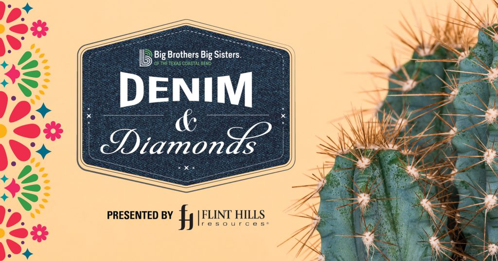 Promo image for Denim and Diamonds event benefiting Big Brothers Big Sisters of the Texas Coastal Bend