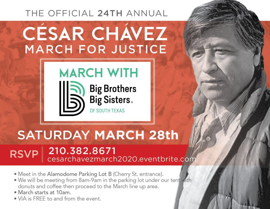 Cesar Chavez March Saturday, March 28th.