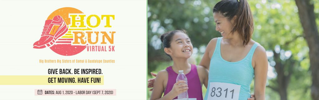 Comal and Guadalupe Counties Hot Run Virtual 5k event header image